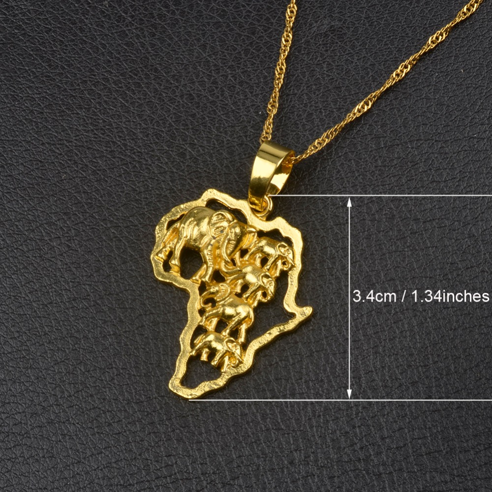 9 Style GoldSilver Plated African Map Pendant And Necklace for Men