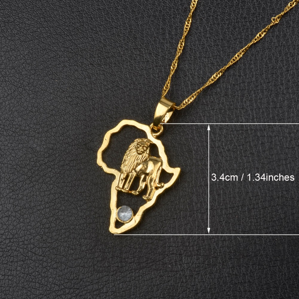 145bae762d2e3 9 Style Gold/Silver Plated African Map Pendant And Necklace for Men And  Women